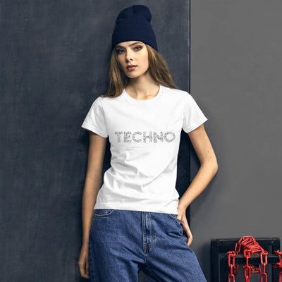 Classic Fit T-shirt Techno Music Notes