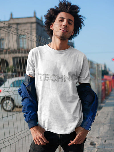 Camiseta unisex Softstyle Techno Music Notes | Techno Outfit