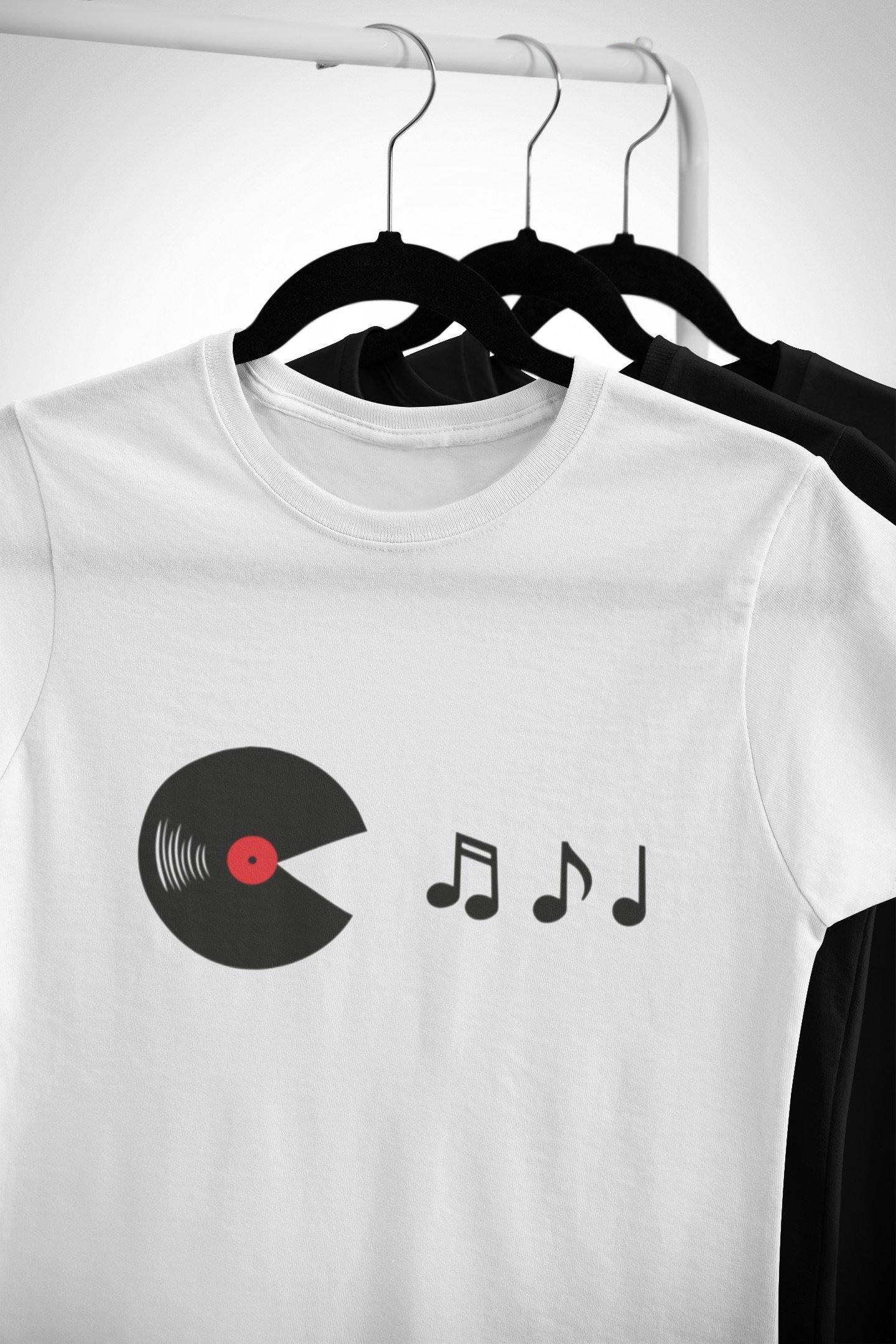 Softstyle Unisex T-Shirt Vinyl Eats Music Notes