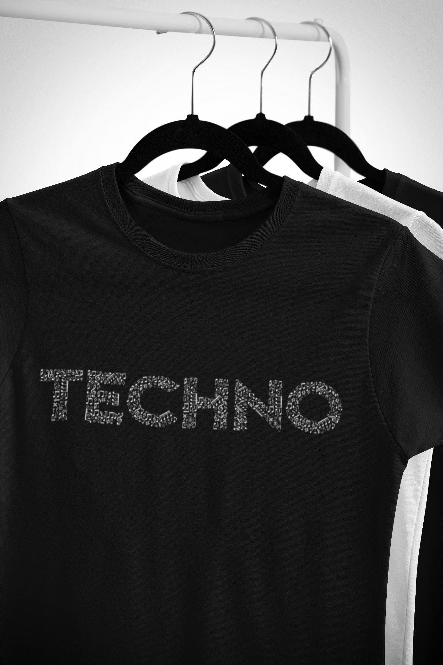 Softstyle Unisex T-Shirt Techno Music Notes