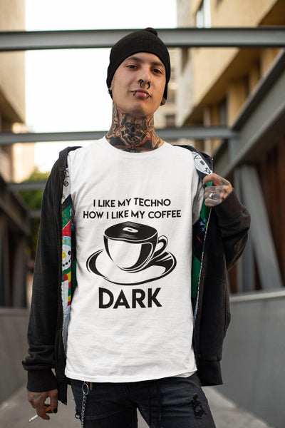 Camiseta unisex Softstyle Techno Coffee