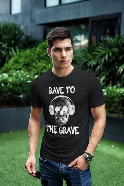 Camiseta unisex Softstyle Rave To The Grave | Techno Outfit