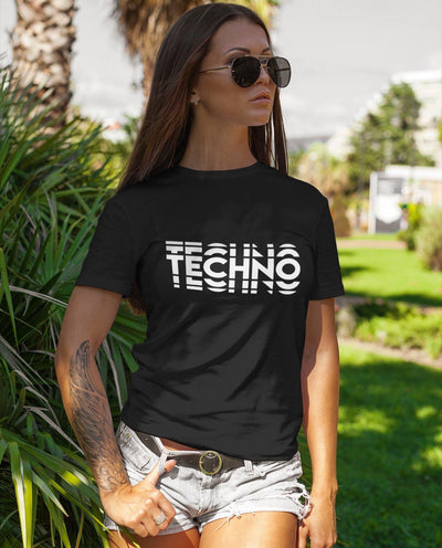 Klassisches Fit T-Shirt Techno Visual Effect 2 | Techno Outfit