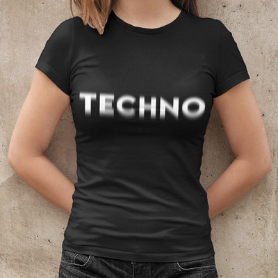Klassisches Fit T-Shirt Techno Visual Effect | Techno Outfit