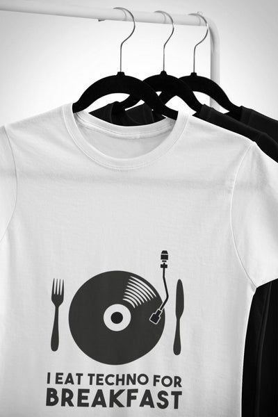 Softstyle Unisex T-Shirt I Eat Techno For Breakfast | Techno Outfit