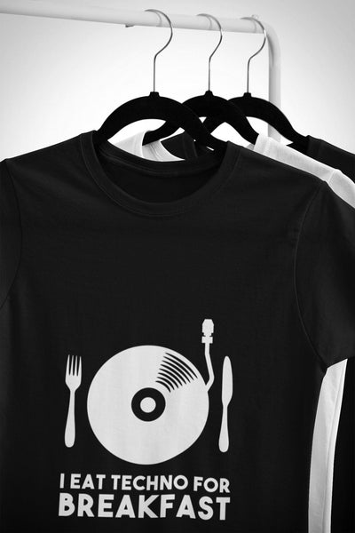 Softstyle Unisex T-Shirt I Eat Techno For Breakfast