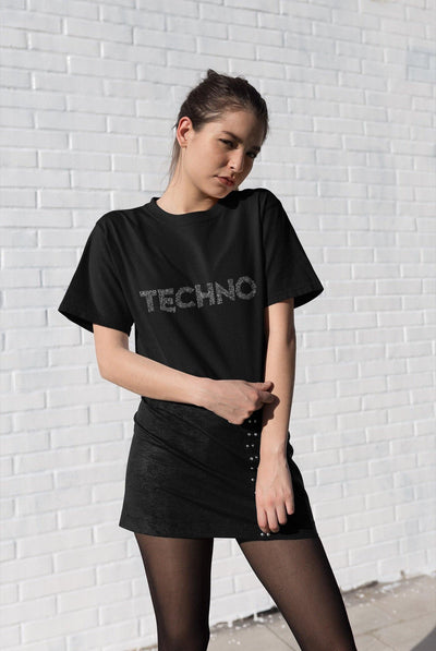 Camiseta unisex Softstyle Techno Music Notes