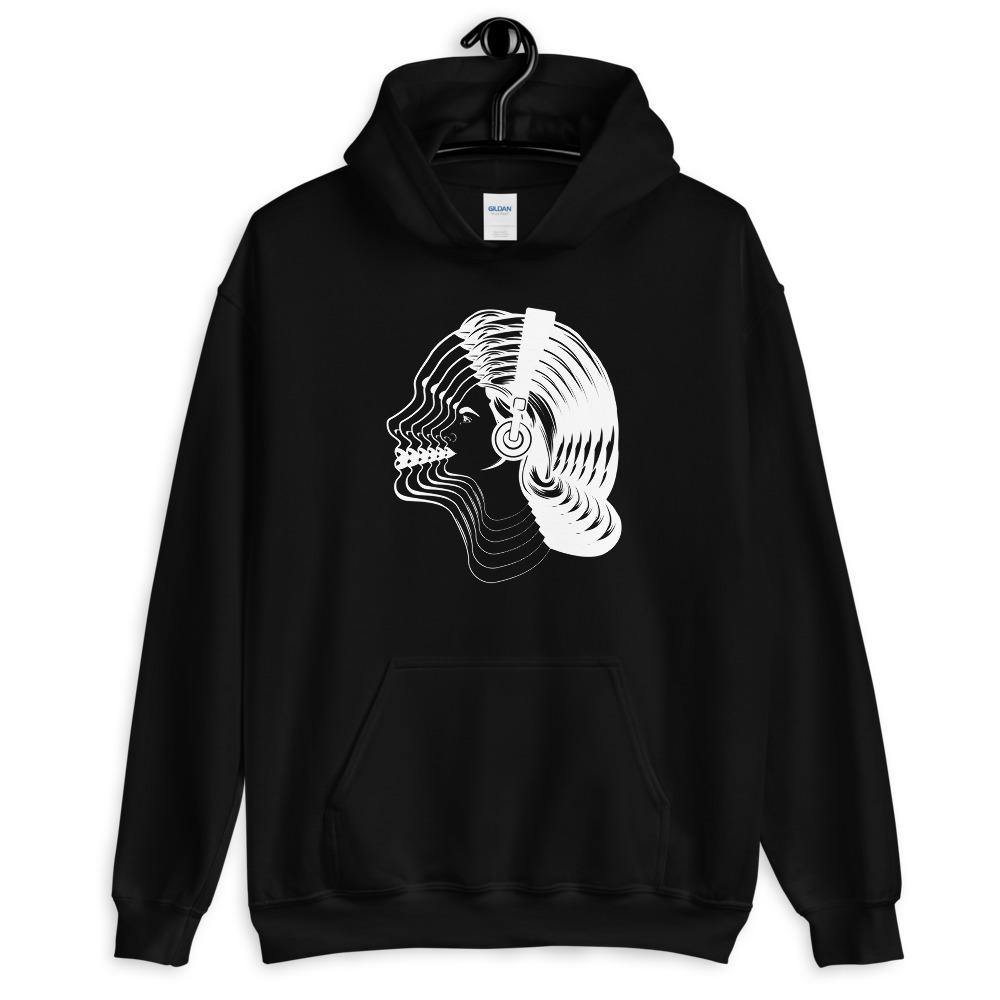 Women Visual Effect Hoodie | Techno Outfit
