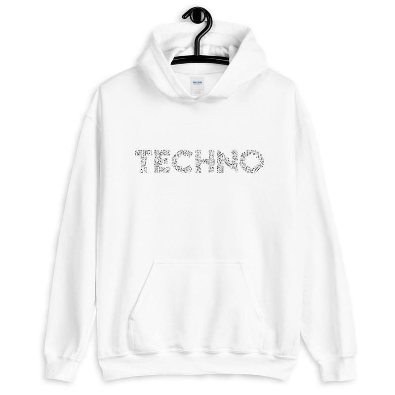 Techno Music Notes Sudadera con capucha | Techno Outfit