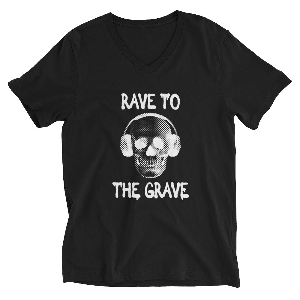 Rave To The Grave V-Neck T-Shirt