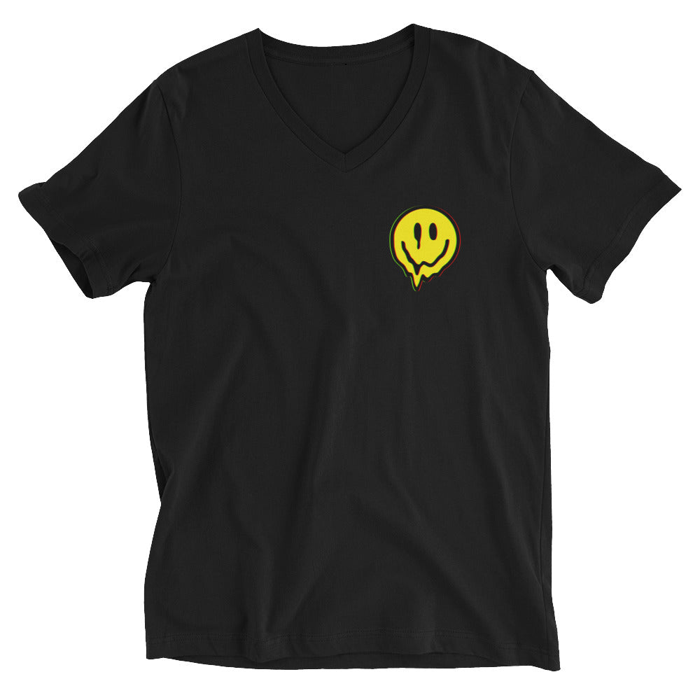 Acid Smiley V-Neck T-Shirt
