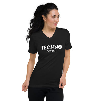 Techno Coexist Camiseta con cuello en v