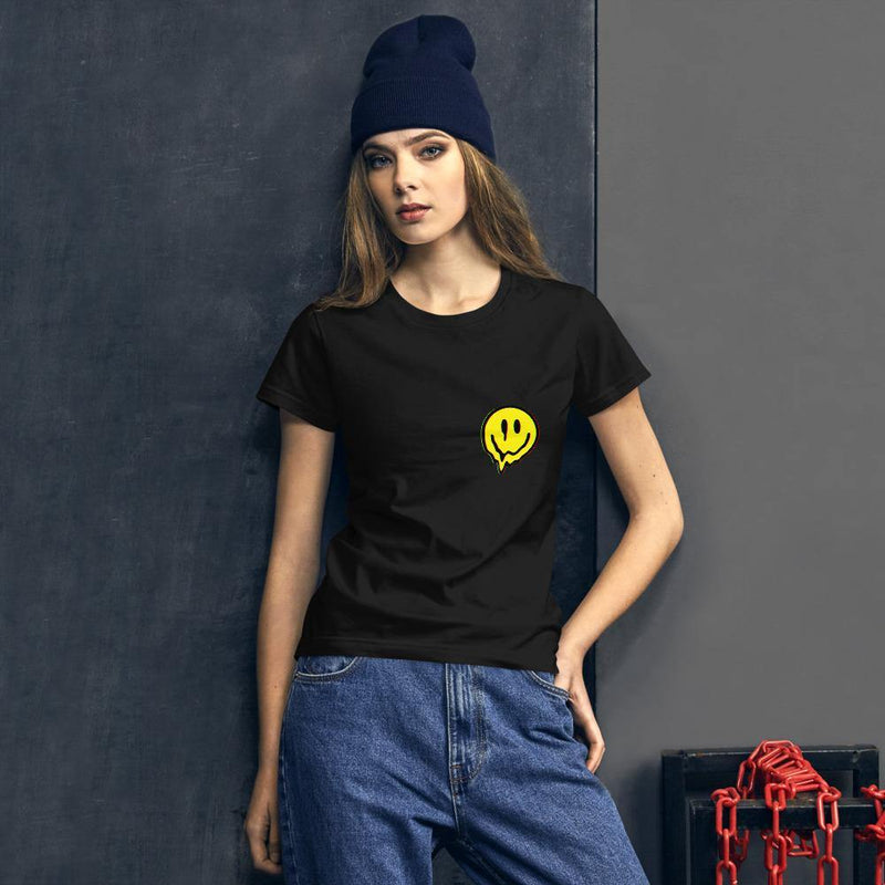 Classic Fit T-Shirt Säure-Smiley | Techno Outfit