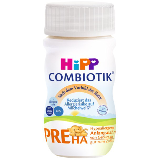 HiPP German PRE HA Ready to Feed (90ml bottles)