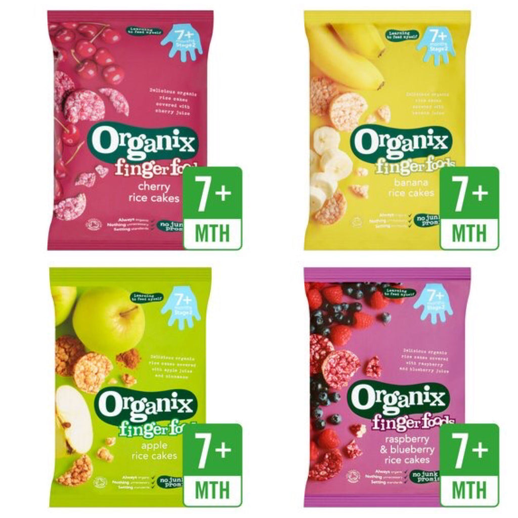 Organix Finger Foods, Pack of 4 50g each, 7+ months (with purchase only)