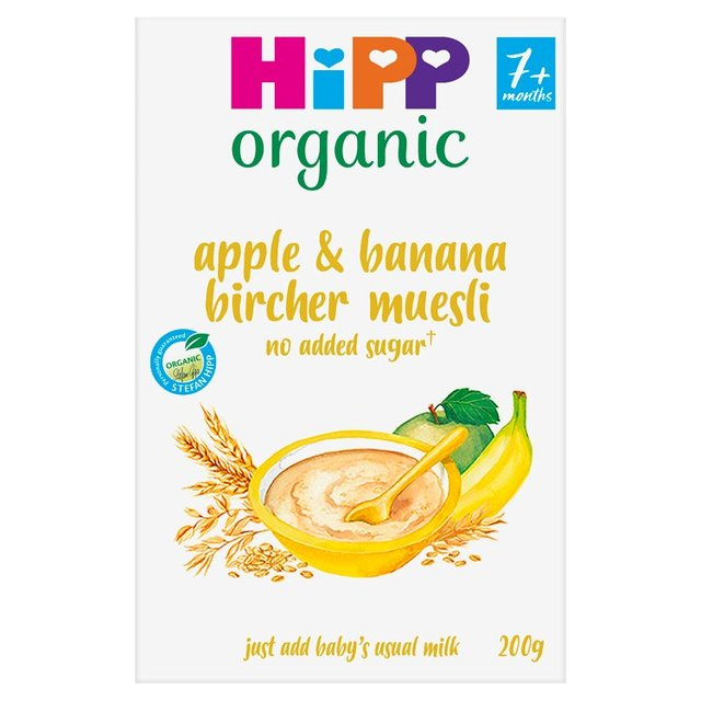 HiPP Organic Apple & Banana Bircher Muesli