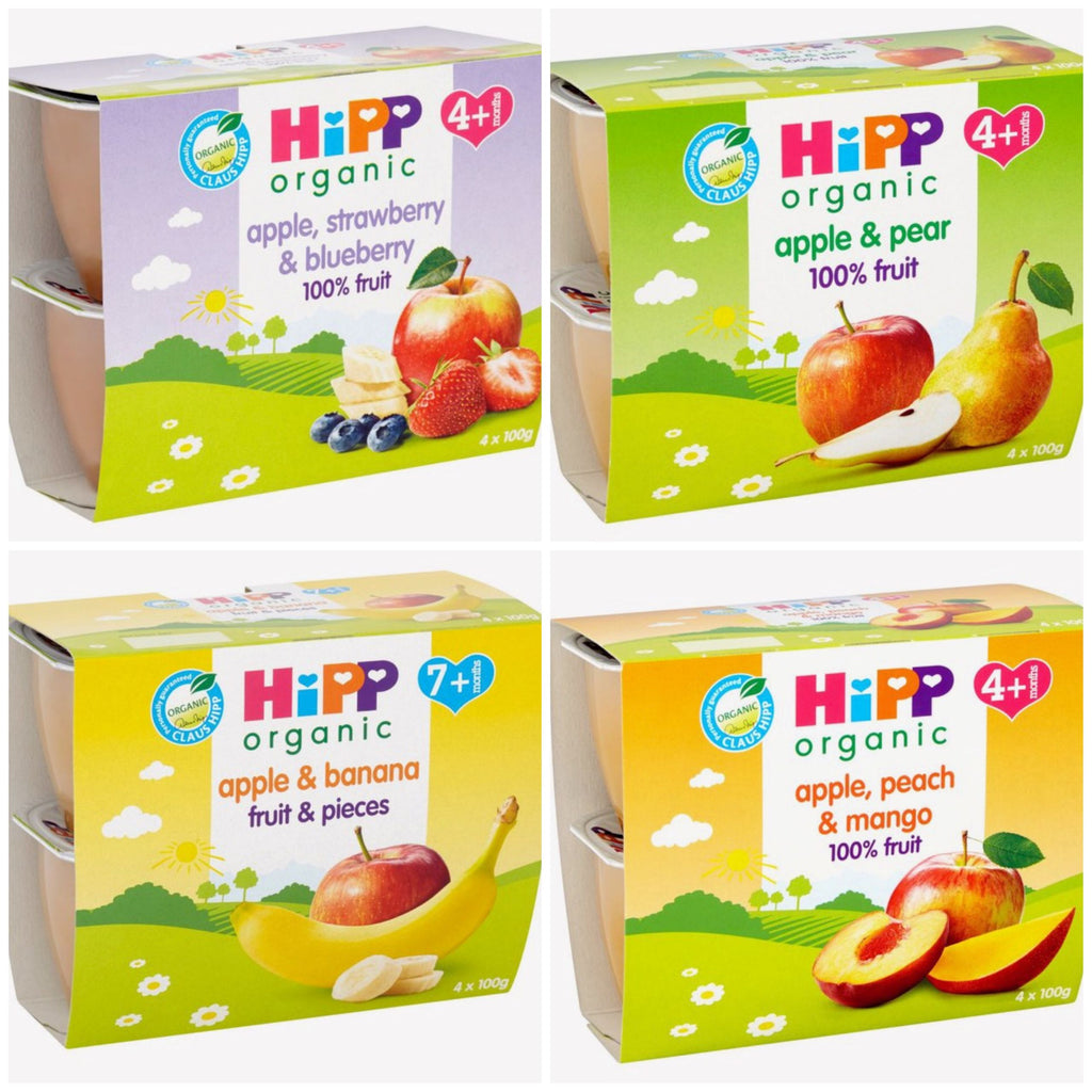 HiPP Organic Fruit Purées (1 pack of 4 cups) *with purchase only*