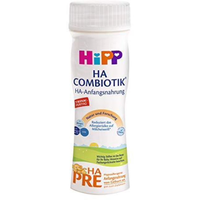 HiPP German PRE HA Ready to Feed (200ml bottles)