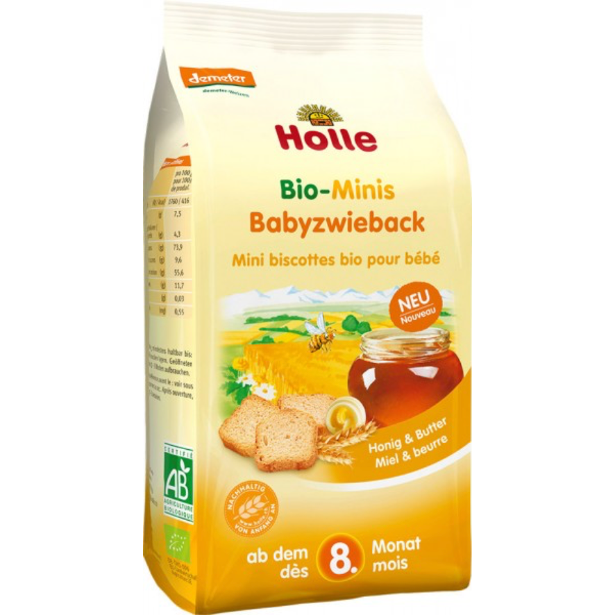 Holle Organic Mini Baby Rusk (with purchase)