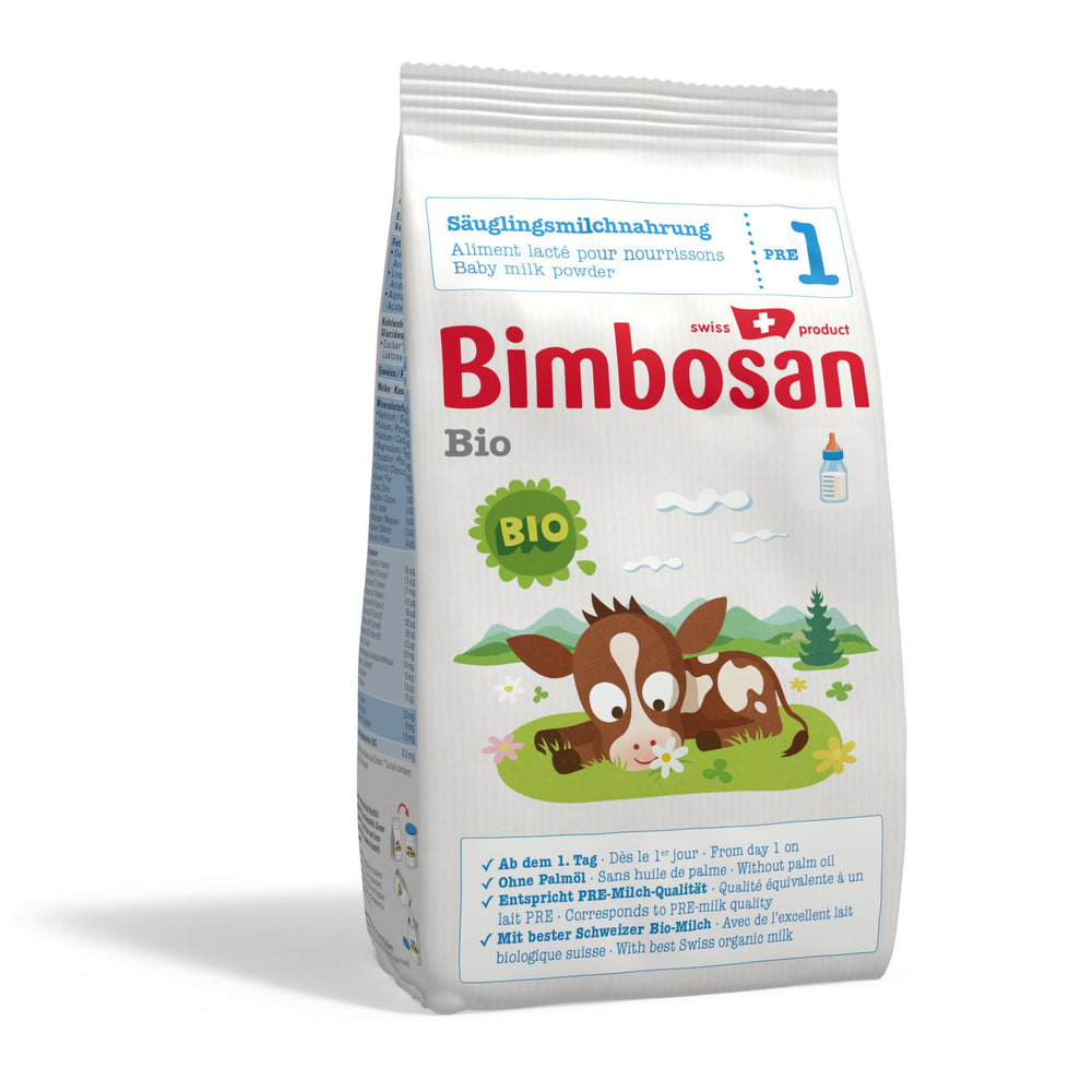 Bimbosan Organic Infant Formula, Stage 1 (refill pack- no scoop)