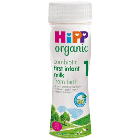 HiPP UK Stage 1 Ready to Feed (pack of 12, 200ml bottles)