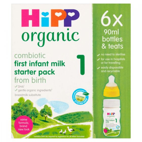 HiPP UK Stage 1 Ready to Feed (pack of 6 with teats)