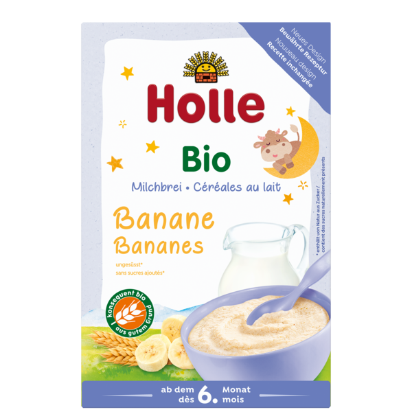 Holle Organic Good Night Milk Cereal with Bananas