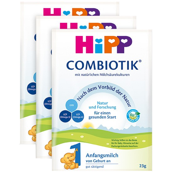 HiPP German Stage 1 (sample pack of 3)