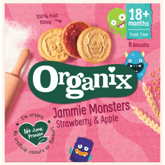 Organix Jammie Monsters, Strawberry & Apple Cookies (with purchase)