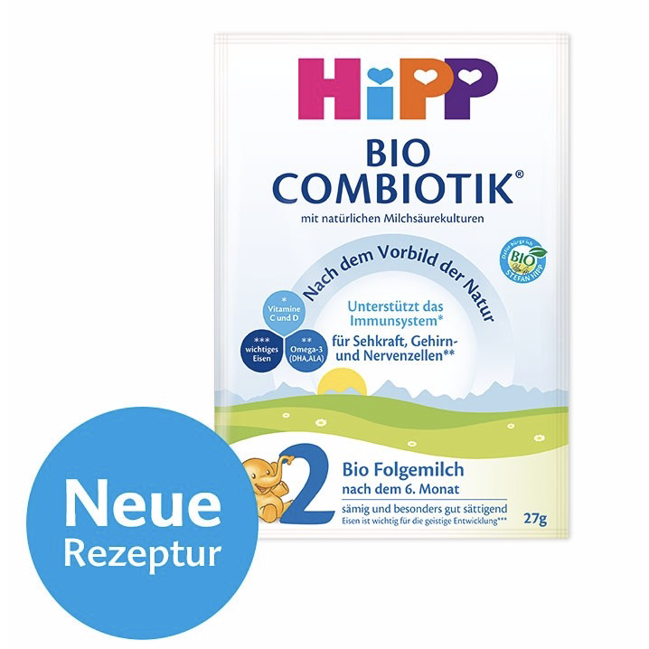 HiPP German Stage 2 (sample pack of 3)