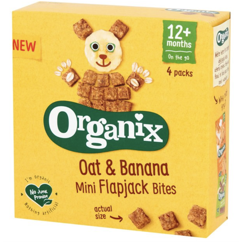 Organix Mini Organic Oat & Banana Flapjack Toddler Snacks (with purchase)