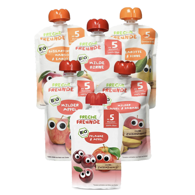 Freche Freunde Pouch Combo 6 Pack (5+ months- with purchase)