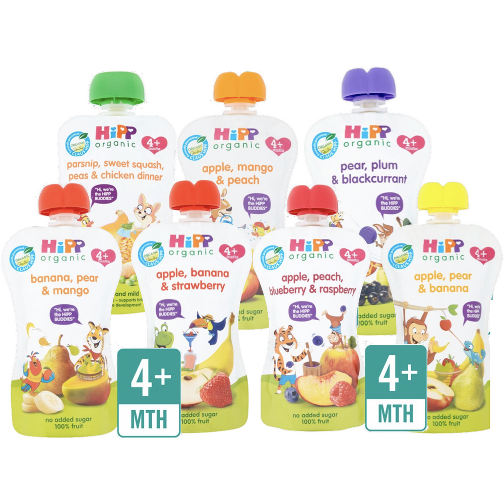 HiPP Food Pouches: 4 months, pack of 7 (with purchase)