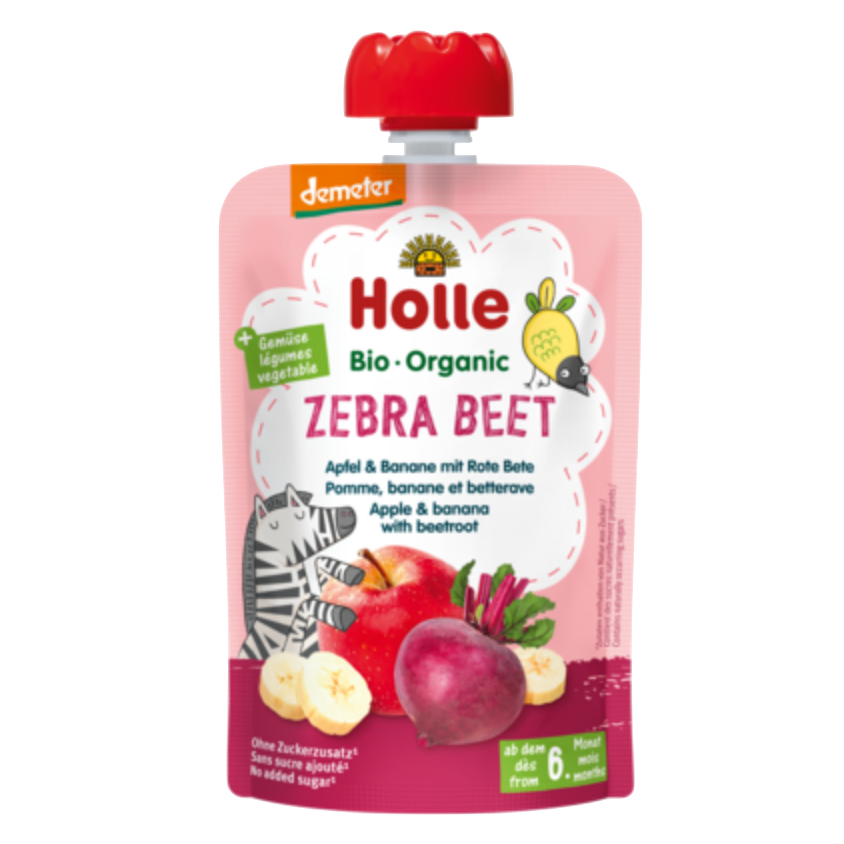 Holle Organic Taste the Rainbow Pouches- Pack of 5, 6+ months (with purchase only)