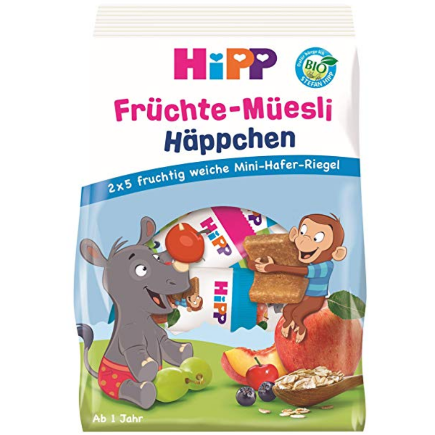 HiPP Organic Fruit Mini Bars: Muesli Snacks, Mix Pack (with purchase)