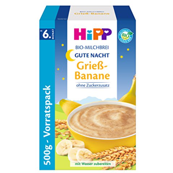 HiPP Good Night Organic Milk Pudding with Semolina & Banana