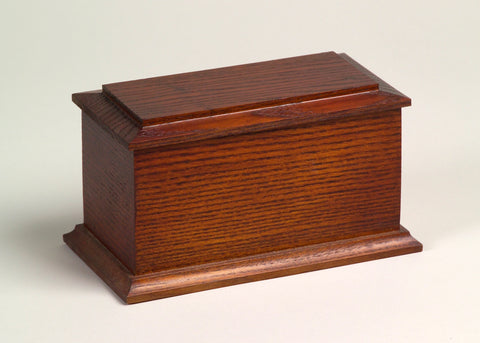 Arlington Series Wooden Urn - Oak