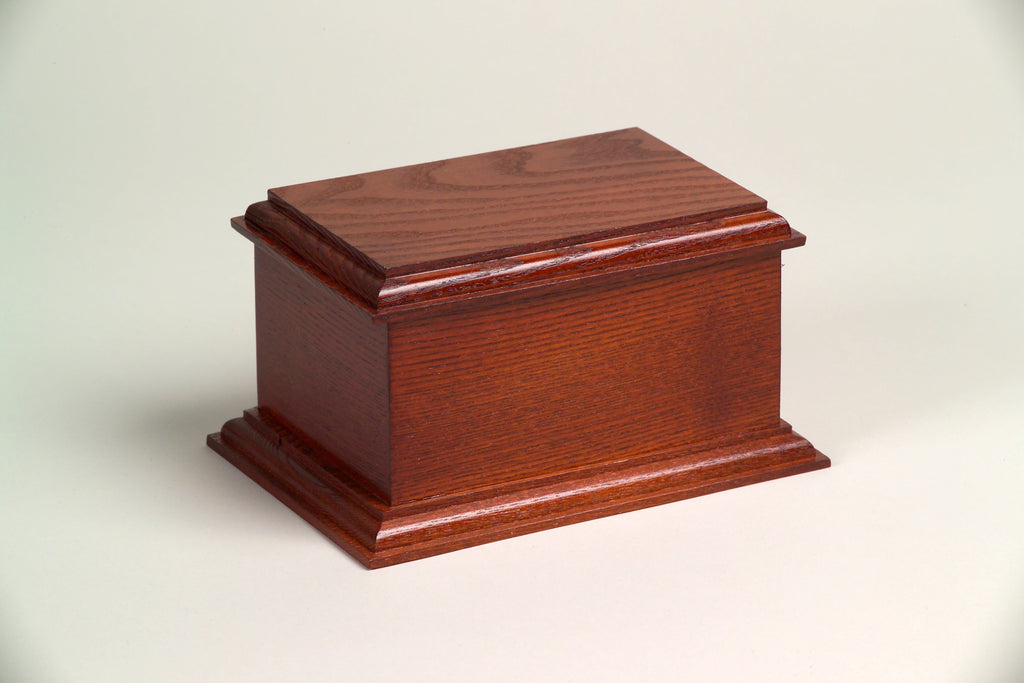 Belmont Series Wooden Urn - Mahogany