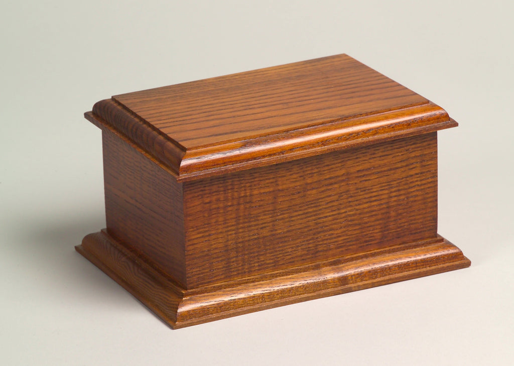 Belmont Series Wooden Urn - Oak