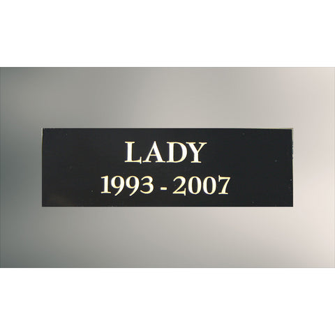 Standard Name Plate - Black Brass