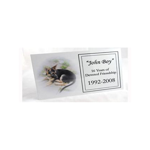 Memorial Nameplate A. (white/feathered)
