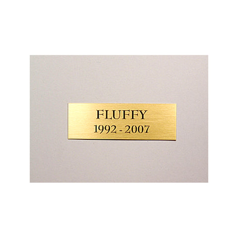 Standard Name Plate - Polished Brass