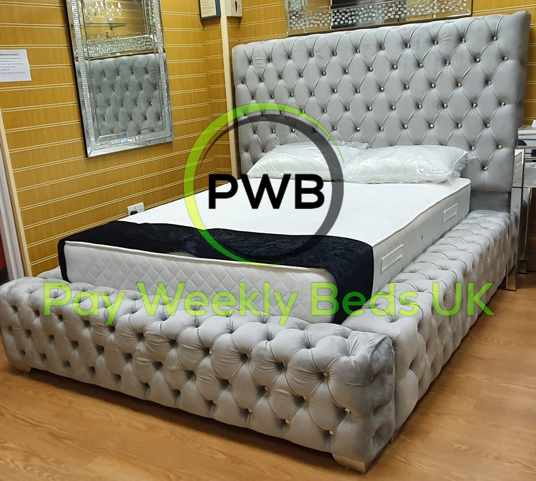 Park Lane Velvet frame bed