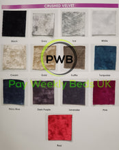 Load image into Gallery viewer, Pay Weekly Beds UK Glitter Crushed Velvet Bed on Finance