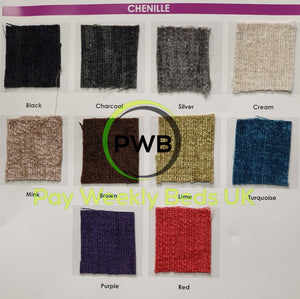 Pay Weekly Beds UK Chenille Fabric Bed Finance