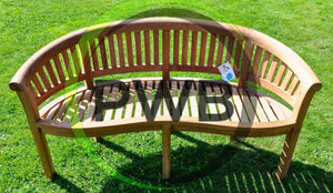 Wimbledon Solid Teak Wood Garden Bench