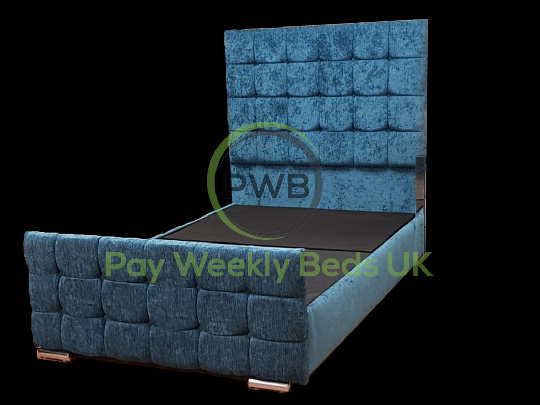 Pay Weekly Beds UK Chenille Aztec Bed Finance