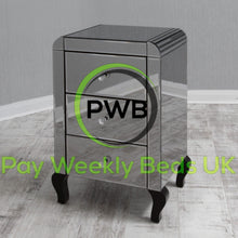 Load image into Gallery viewer, Pay Weekly Beds UK Mirror Bedside Cabinets Finance