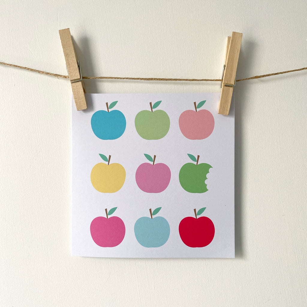 'Apples' Greetings Card