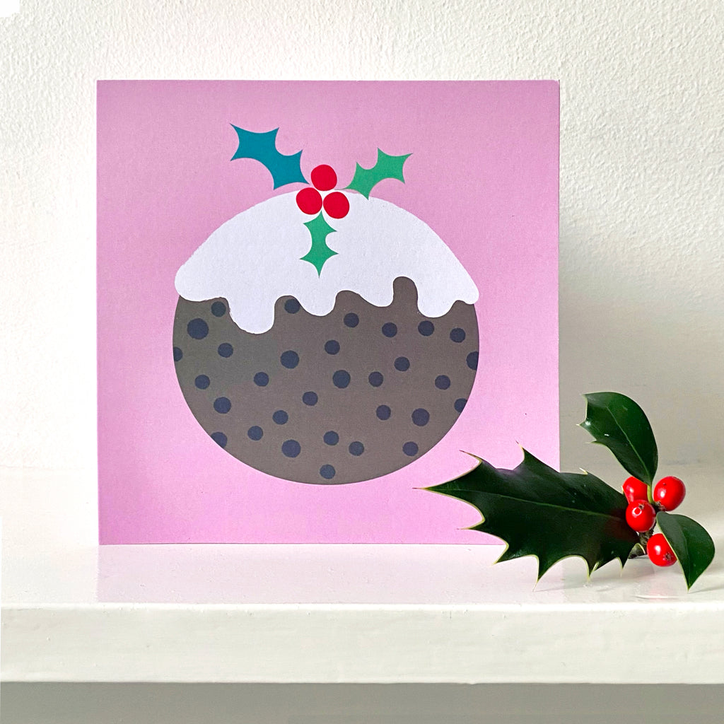 Christmas Pudding Greetings Card